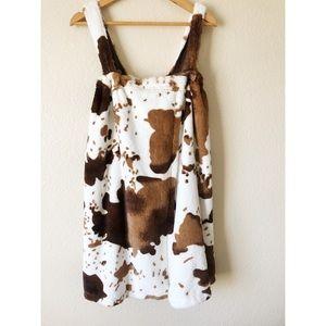Bass Pro shop cow Hyde mumu shower wrap robe